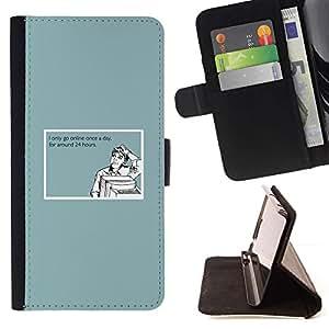 Momo Phone Case / Flip Funda de Cuero Case Cover - Cita Adicción a Internet divertido ordenador Hombre - Samsung Galaxy J1 J100