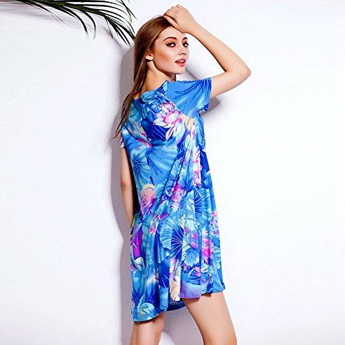 Pinkyee - Vestido - chaqueta - para mujer Azul