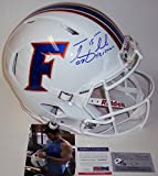 Tim Tebow Autographed Hand Signed Florida Gators White Speed Full Size Authentic Football Helmet - with 07 Heisman Inscriptions - PSA/DNA