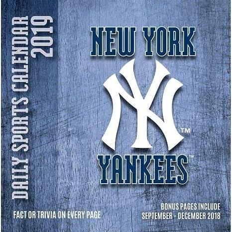 Yankees Calendar 2019 Amazon.com: 2019 NEW YORK YANKEES 365 Page A day DAILY CALENDAR