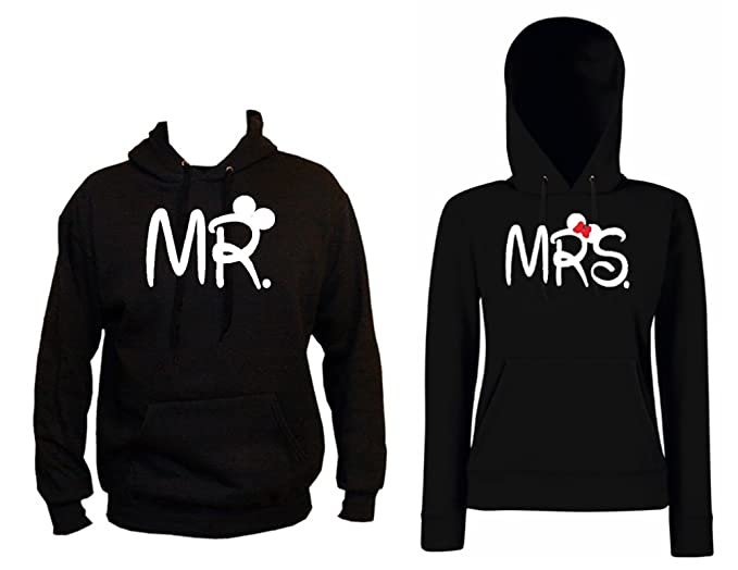 TRVPPY Hooded Sweat Suéter Sudadera con Capucha Modelo Mrs Mini Mouse, para Mujer, en