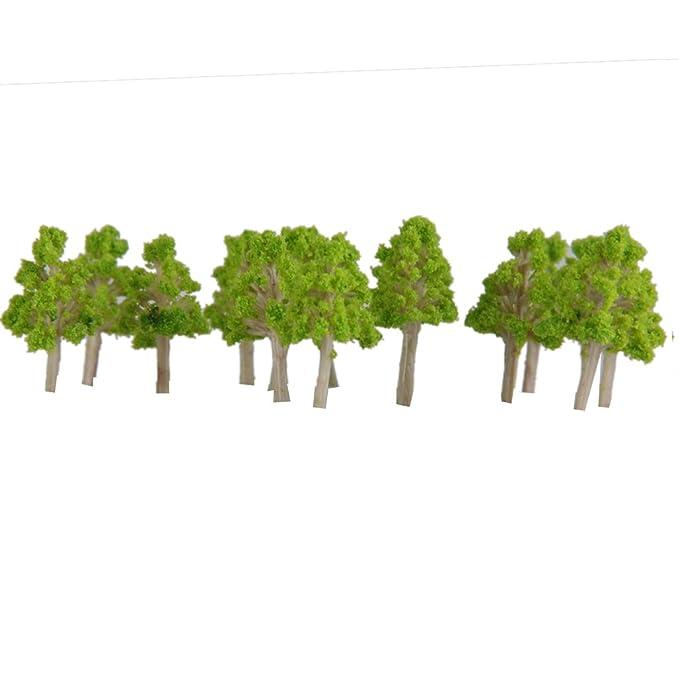Amazon.com: 100x Landscape Poplar Trees 2.5cm Model Train ...