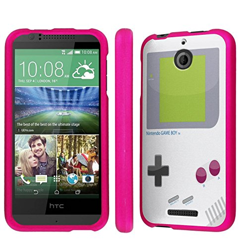 Phone Snap Htc (Htc Desire 510 / 512 Armor Case [NakedShield] [Hot Pink] Total Armor Protection [Shell Snap] Phone Case - [Game Boy] for Htc Desire 510 / 512)