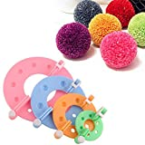 Zetti 4Size/Set Pompom Maker Fluff Ball Bobble Weaver Needle Craft Knitting Wool Tool Kit DIY