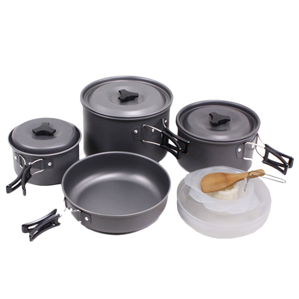 Zhhlaixing Camping Cookware Anodised Aluminium Kit for Outdoor