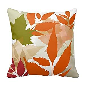 Pillowcases Green orange red in autumn 18x18(inches)
