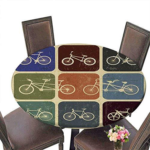 (PINAFORE Modern Simple Round Tablecloth Type de Media Vecteurs Decoration Washable 50