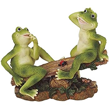 Beau George S. Chen Imports SS G 61041 2 Frogs On Seesaw Garden Decoration  Collectible Figurine Statue Model