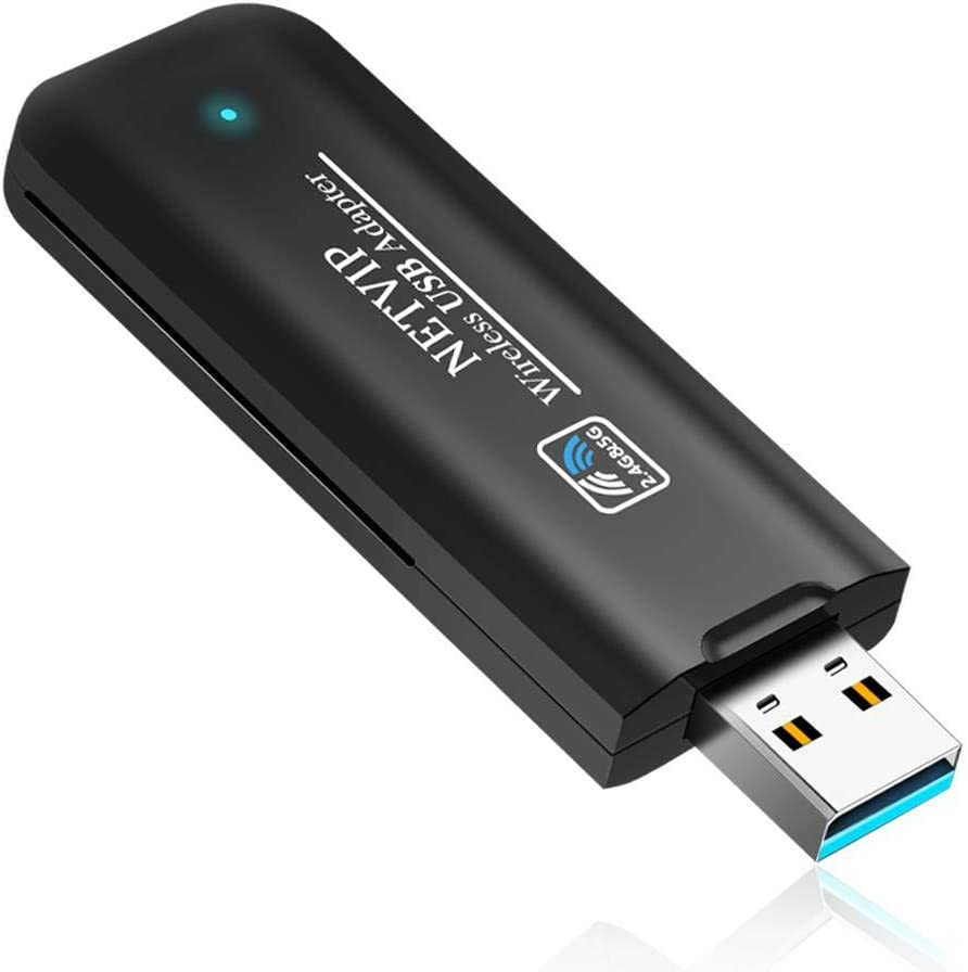 AC1200 Wireless USB WiFi Adapter, Dual Band 5.8G/867Mbps+2.4G/300Mbps WiFi Dongle Complies with 802.11 ac/b/g/n, Perfect for Desktop Laptop PC Support Windows & Mac OS X