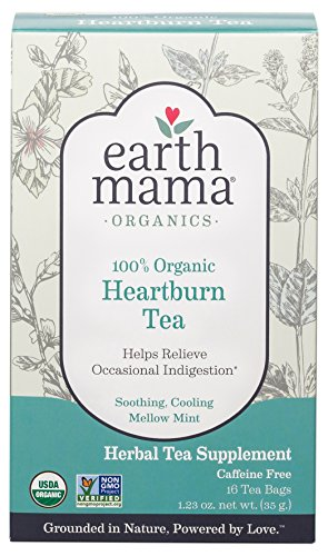 Earth Mama Angel Baby Organic Heartburn Tea -- 16 Tea Bags Earth Mama Heartburn Tea