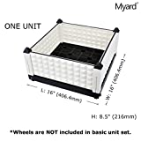 Myard DIY Movable Multiple Combination Assembly Planter Box Pot Garden Kit, Indoor / Outdoor Flower Vegetable Herb Farm, White (Qty 1) offers