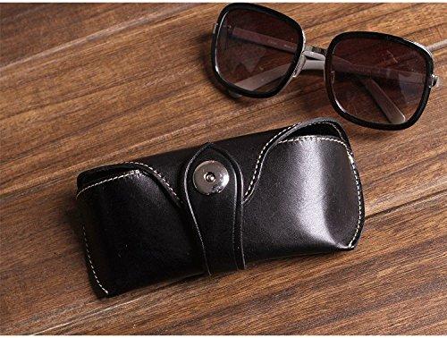 AMAZZANG-Handmade Old Saddle Leather Glasses Pouch Bag Men Women Fashion Sunglasses Case - And Sunglasses Vuitton Black Louis Gold