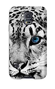 New Style Premium Protective Hard Case For Galaxy S5- Nice Design - Snow Leopard