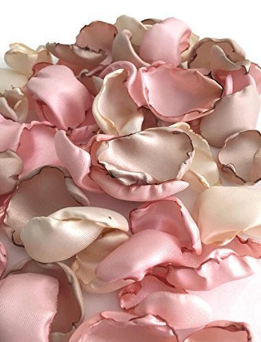 Amazon.com: Blush pink ivory and champagne 25 flower petals wedding ...