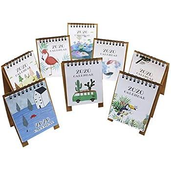 Amazon.com : 8 PCs 2020 Mini Desktop Paper Calendar Daily ...