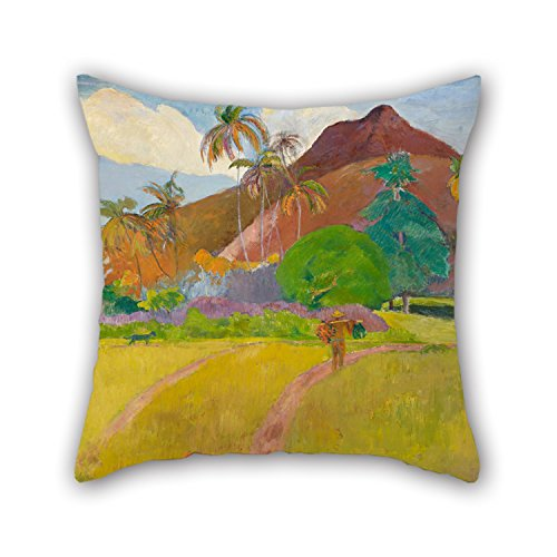 [Artistdecor The Oil Painting Paul Gauguin - Tahitian Landscape Pillow Shams Of ,18 X 18 Inches / 45 By 45 Cm Decoration,gift For Home,seat,family,teens,boy Friend,teens Girls (two] (John Paul Jones Costumes)