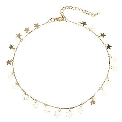80677b2b9229 TENDYCOCO Collar Boho Mujeres Gargantilla Oro Cadena Estrella Gargantilla  Collar Joyas para Mujer  Amazon.es  Joyería