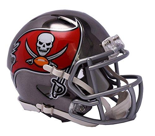 Tampa Bay Buccaneers Helmet Riddell Replica Mini Speed Style Chrome (Riddell Tampa Bay Buccaneers Replica Helmet)