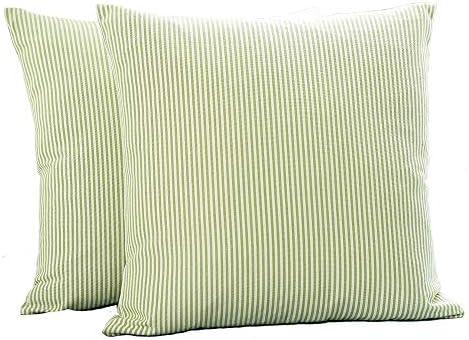 Shamrockers Farmhouse Decorative Pillowcase Green Stripe product image