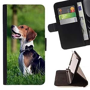 - Dog Cute Puppy Pet Paws - - Monedero PU titular de la tarjeta de cr?dito de cuero cubierta de la caja de la bolsa FOR Sony Xperia M2 Retro Candy