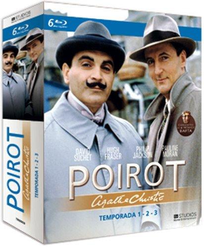 Agatha Christie's - Poirot (Season 1-3) - 6-Disc Box Set ( Agatha Christie: Poirot ) ( Agatha Christie's - Poirot - Season One, Two & Three ) [ Blu-Ray, Reg.A/B/C Import - Spain ]