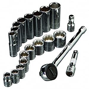 "Pittsburgh Professional 20 Piece High Visibility 3/8"" Drive Metric Socket Set"