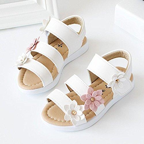 d010f5a48f Sandalias De Bebé Niñas, â ¤ï¸ Manadlian Zapatillas Zapatos planos de chicas  Flor