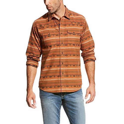 ARIAT Men's Retro Fit Long Sleeve Snap Shirt, Wagnor Multi, - Retro Western Snap Shirt