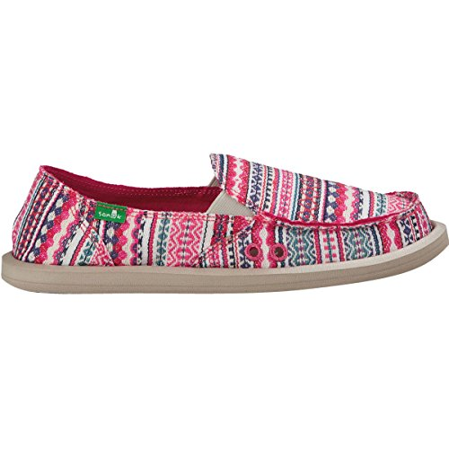 Sanuk Womens Donna Blanket Loafer Raspberry Lanai Blanket Size 7