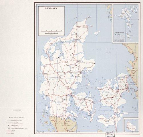Map Poster - Denmark. 8-62