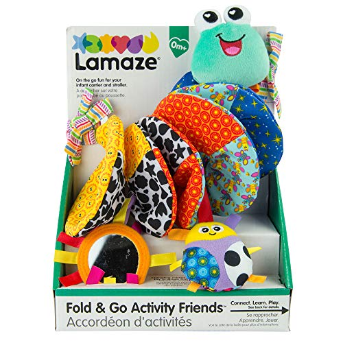 LAMAZE Fold and Go Activity Friends Baby Toy, Multi Colors