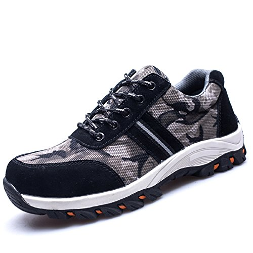 hoes Steel Toe Shoes Composite Protect Toe for Men Women Industrial&Construction(Size 40, Gray) ()