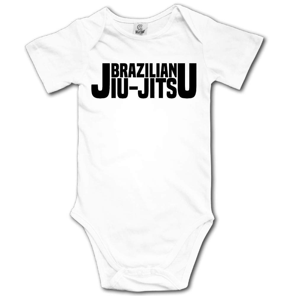 A1BY-5US Infant Baby Girls Cotton Long Sleeve Brazilian Jiu Jitsu Jumpsuit Romper Funny Printed Romper Clothes