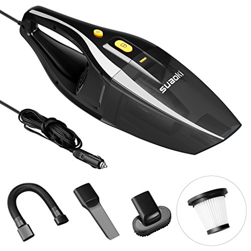 Suaoki Car Vacuum Cleaner DC 12V 120W Handheld Car Vacuum Wet Dry 4000Pa Powerful Suction 16.4FT ...
