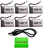 BTG 3.7V 600mAh Battery 6PCS & 6 In 1 Battery Charger for Syma X5C X5SW X5C-1 X5SC X5SC-1
