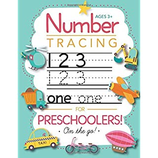 Number Tracing Book for Preschoolers and Kids Ages 3-5: Trace Numbers Practice Workbook for Pre K, Kindergarten and Kids Ages 3-5 (Math Activity Book)