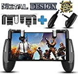 Mobile Game Controller for PUBG Fortnite [Upgrade Version] Gamepad, L1R1 Sensitive Shoot and Aim Triggers Fire Buttons for iOS Android, Cell Phone Gaming Joystick Accessories, (2 Trigger and Game Pad)