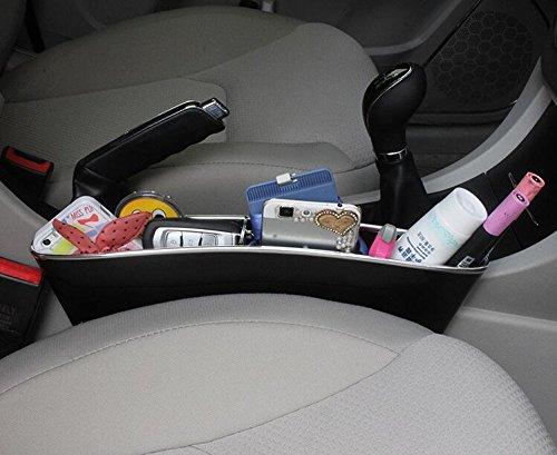 cellulari 2/pezzi, nero /ricevitore scatola portaoggetti tra sedile e console per raccoglitore Auto tasca organizer sedile console unisci-materassi Side/ chiavi monete