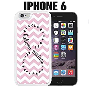 iPhone Case Chevron Hakuna Matata for iPhone 6 White 2 in 1 Heavy Duty (Ships from CA)