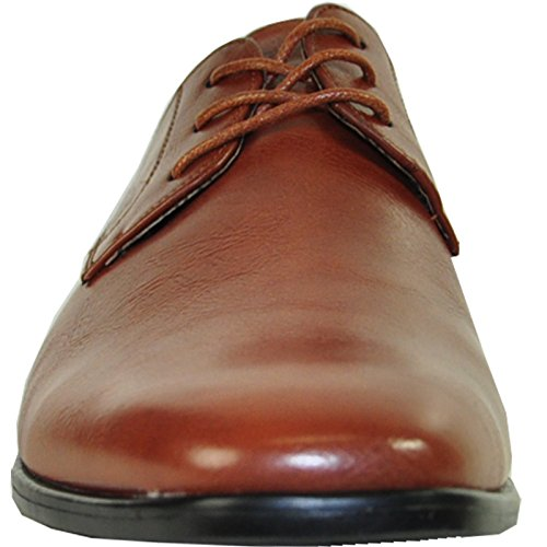 Bravo Men Dress Shoe King-1 Oxford Classico Con Fodera In Pelle Marrone