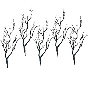 MagiDeal 5PCS Plastic Plant Tree Branches Simulation Twig Stem Home Wedding DIY Decor 4