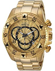 Invicta Mens Excursion Quartz and Stainless Steel Casual Watch, Color:Gold-Toned (Model: 24263)