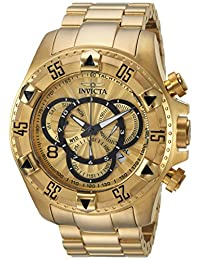 Invicta Men's 'Excursion' Quartz and Stainless Steel Casual Watch, Color:Gold-Toned (Model: 24263)