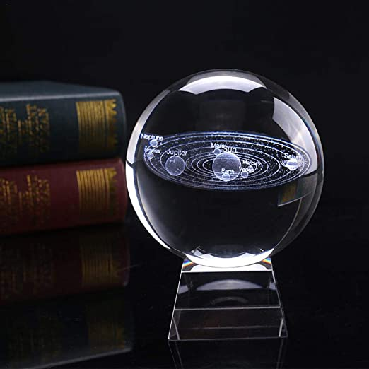 Sistema Solar 3D Bola de Cristal con Soporte Planeta Claro Bola ...