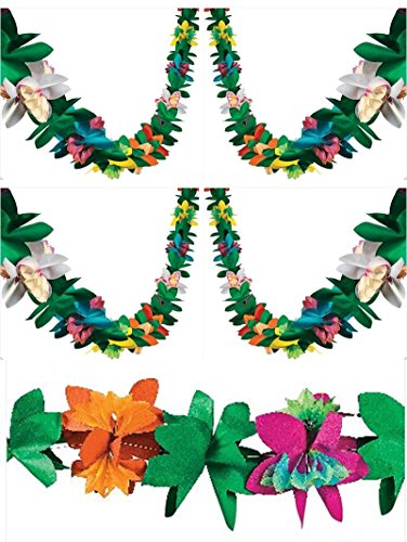 Party Tissue Paper Garland (3 Piece Tissue Flower Garlands (Each is 9 feet))