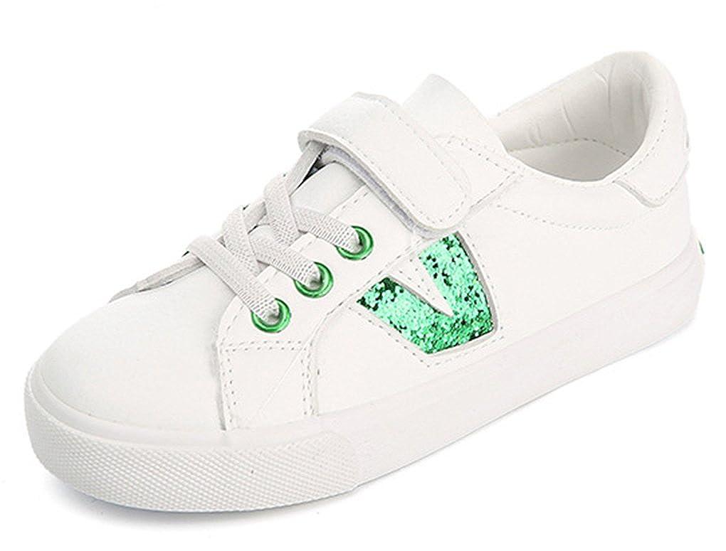 72199392109e8 VECJUNIA Fille Garçon Souple Paillettes Talon Plat Printemps Chaussures de  Course Mode Sneakers Vert 25 EU  Amazon.fr  Chaussures et Sacs