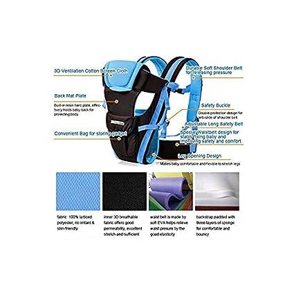 Vine Adjustable 4 Positions Baby Carrier 3D Backpack Pouch Bag Infant Wrap Soft Structured Ergonomic Sling Front Back Pink
