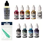 #6: Jacquard Products JAC9916 Pinata Color Exciter Ink Pack, 8x Pixiss Ink Blending Tools Bundle, 2-Ounce Ranger Adirondack Alcohol Blending Solution