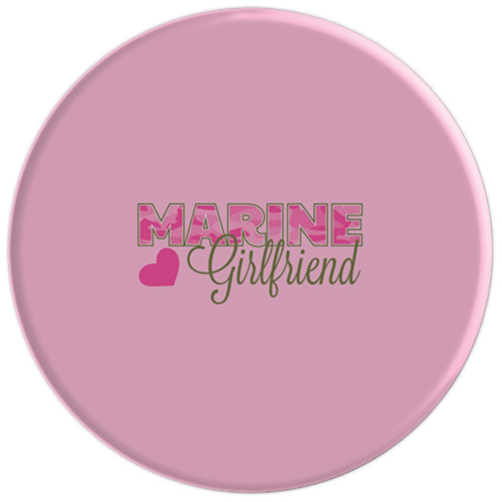 US Marines USMC Girlfriend Pink Pop Socket Phone Accessory - PopSockets Grip and Stand for Phones and Tablets by CafePress (Image #2)
