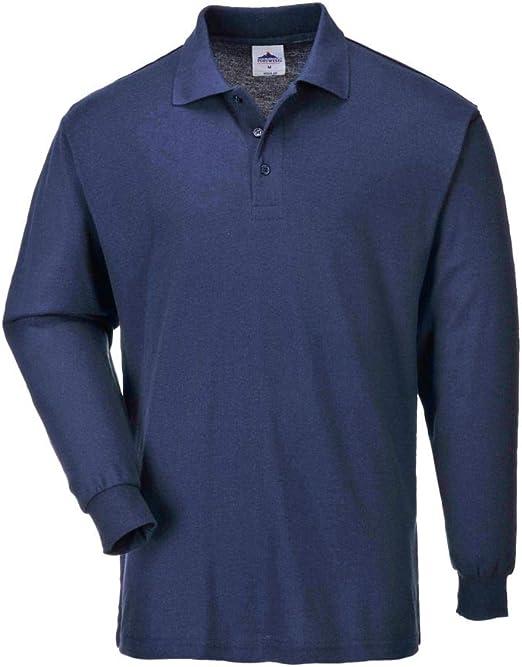 Portwest B212 - Camisa con mangas larga Polo, color Armada, talla ...